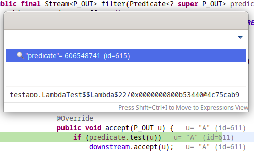 A screenshot of the corrected variable.