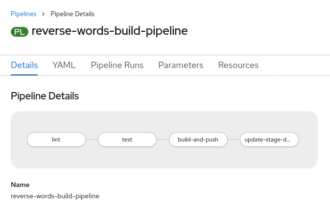 reverse-words build pipeline: lint -> test -> build-and-push -> update-stage-d...