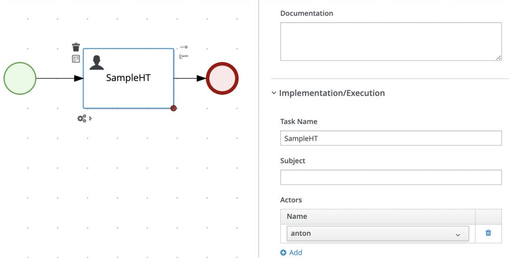 "Implementation/Execution: Task name SampleHT with Actor name ""anton"""