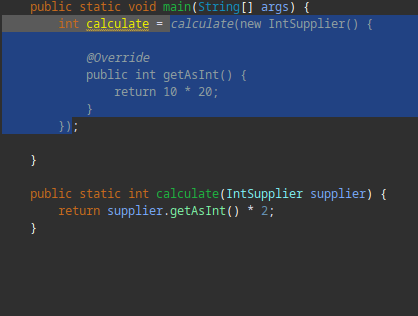 A code sample.