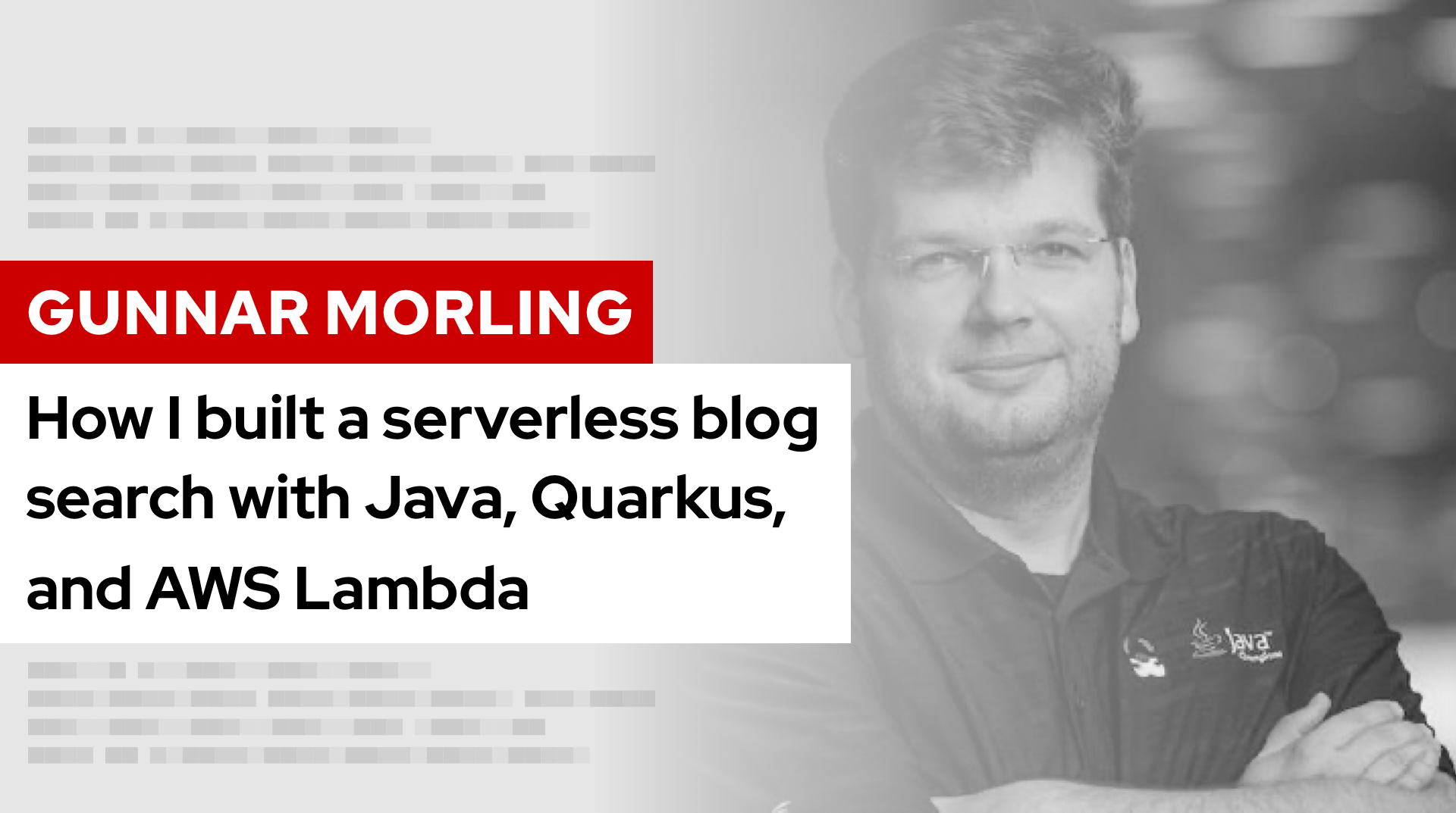 How I built a serverless blog search with Java, Quarkus, and AWS Lambda