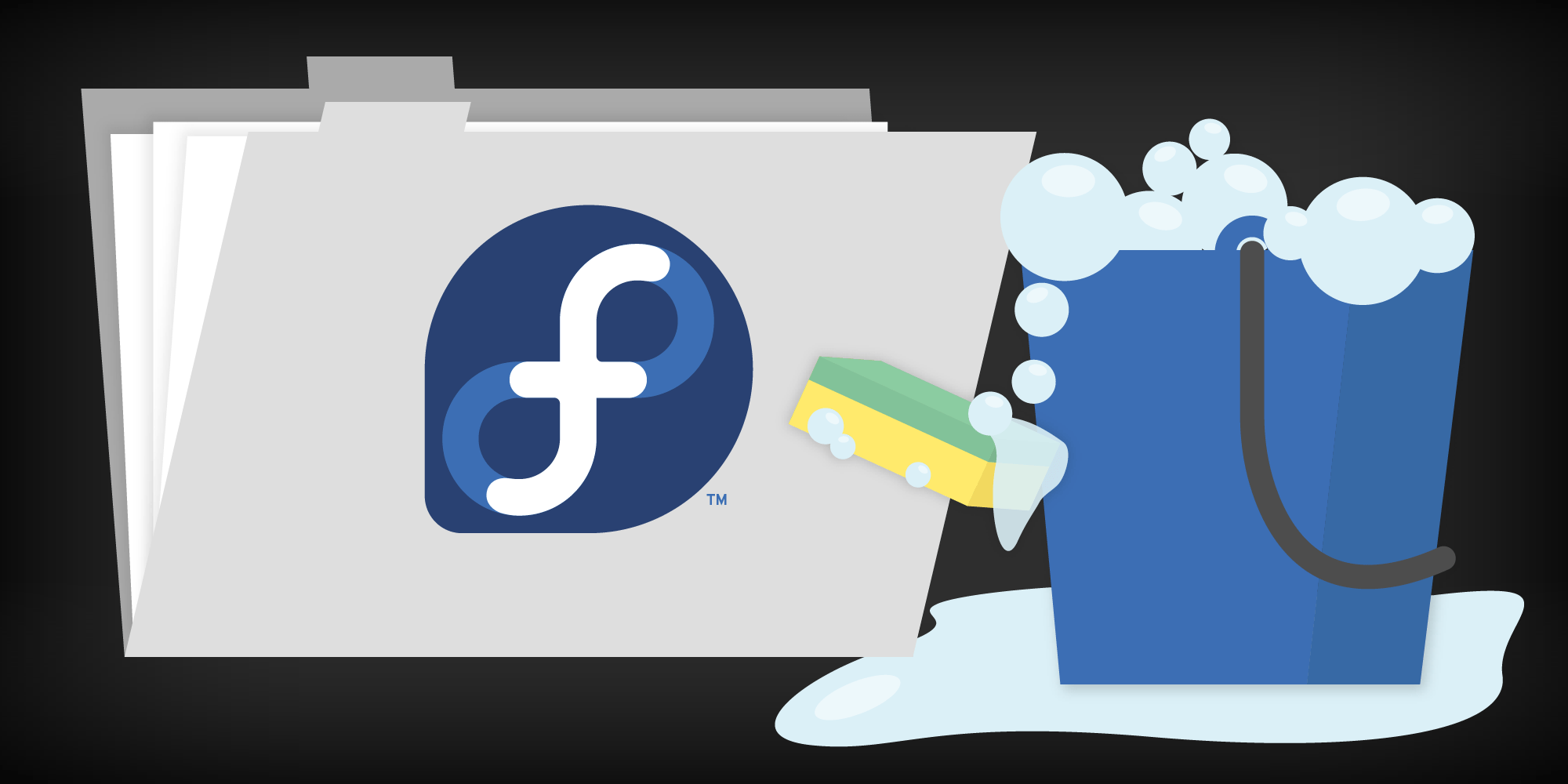How to clean up the Fedora root folder