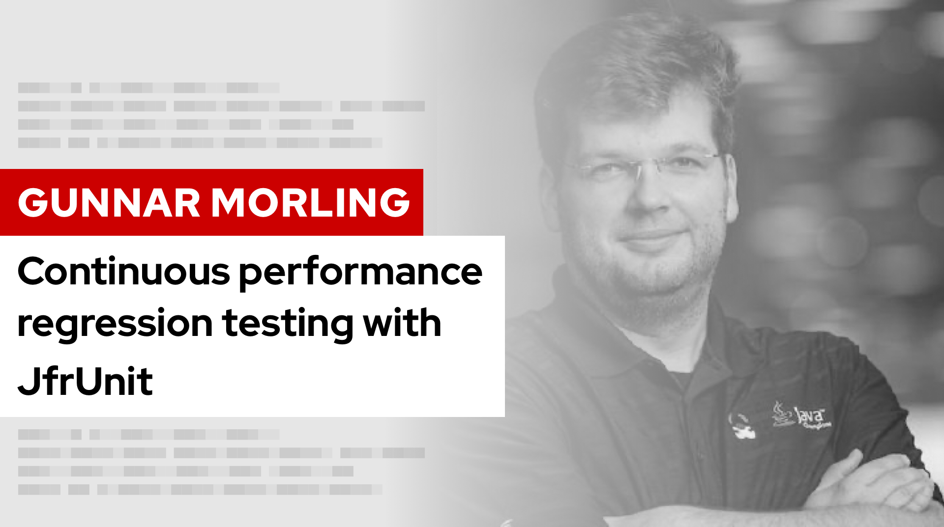 Continuous performance regression testing with JfrUnit | DevNation Tech Talk