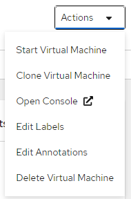 Select the option to start the virtual machine.
