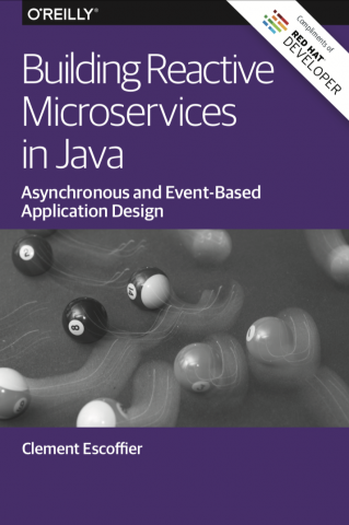 Building Reactive Microservices in Java Book Cover