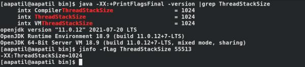 您可以检查程序使用的线程堆栈的大小。