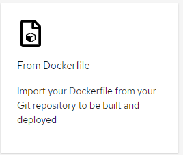 Link to allow user to build from Dockerfile