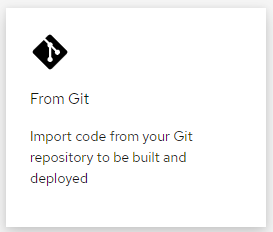 Link to allow user to build from git