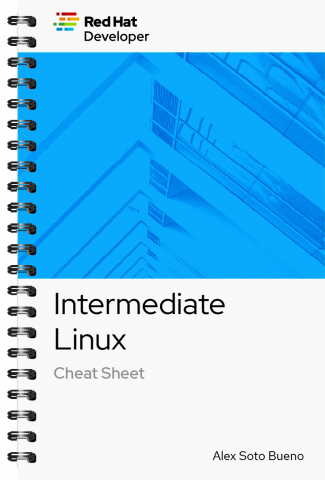 intermediate-linux cheat sheet cover